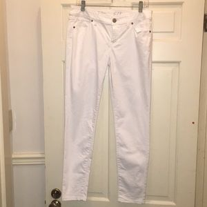 The limited white jeans